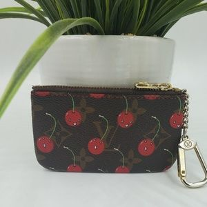 Louis Vuitton Murakami Cherry Key Cles Pouch